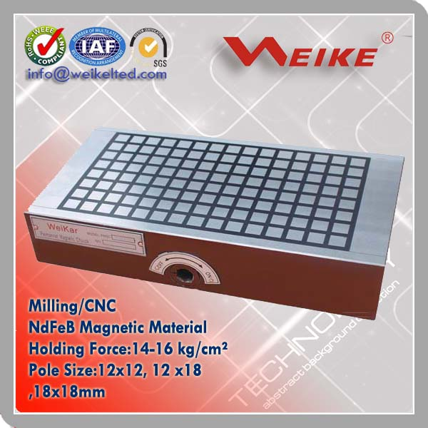 Matrix Permanent Magnetic Chuck for Milling Machine