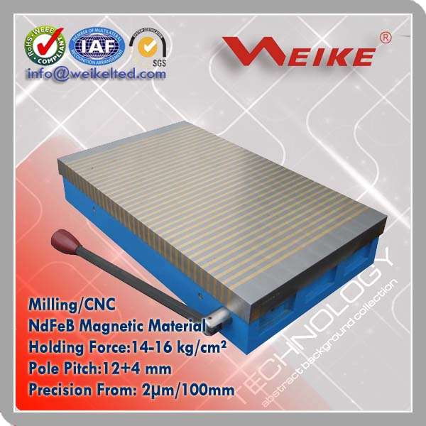 Permanent Magnetic Table for Milling and CNC Clamping System
